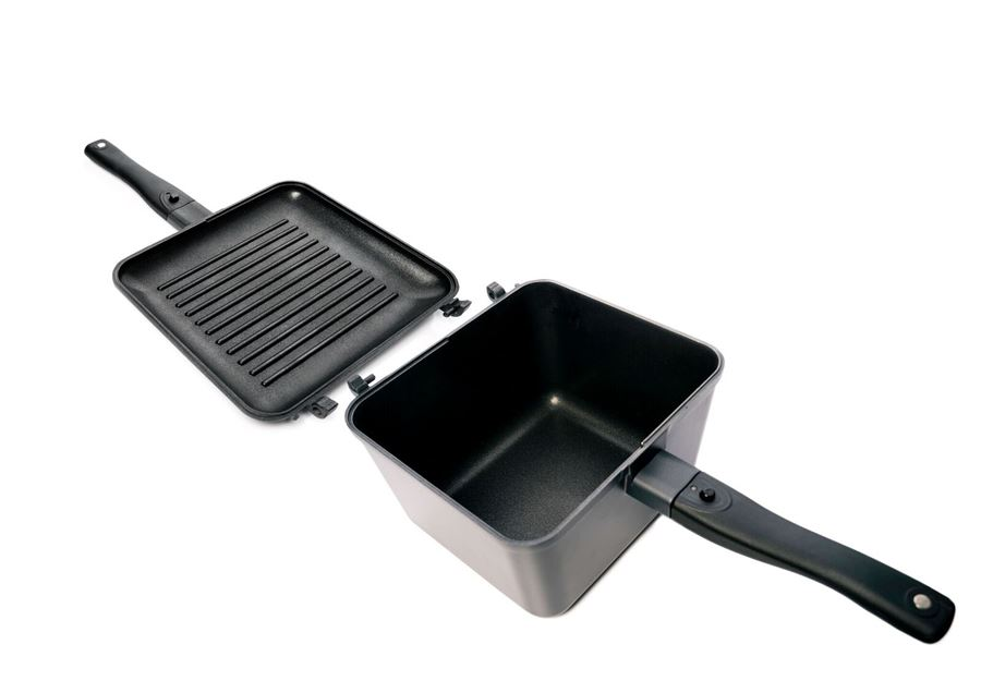 Pánev RidgeMonkey Connect Multi Purpose Pan & Griddle Set