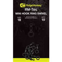 RidgeMonkey: Obratlík RM-Tec Mini Hook Ring Swivel 10ks